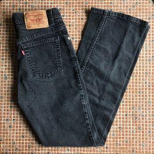 [vintage] Levi's 517 black washed flare jeans